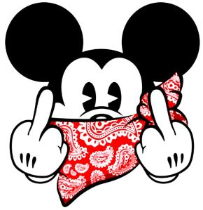 mickey mouse finger