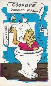 flush down toilet