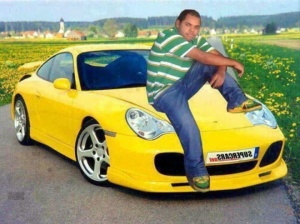 guy with car photoshopped