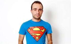 guy with superman shirt