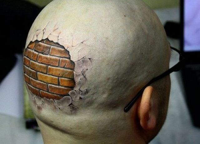 bald brick wall